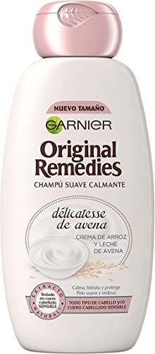Garnier Original Remedies Delicatesse de Avena Champú para Cuero Cabelludo Sensible y Normal - 300 ml