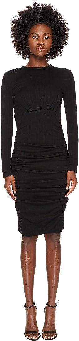 YIGAL AZROUËL - Wool Jersey Ruched Skirt Sheath Dress