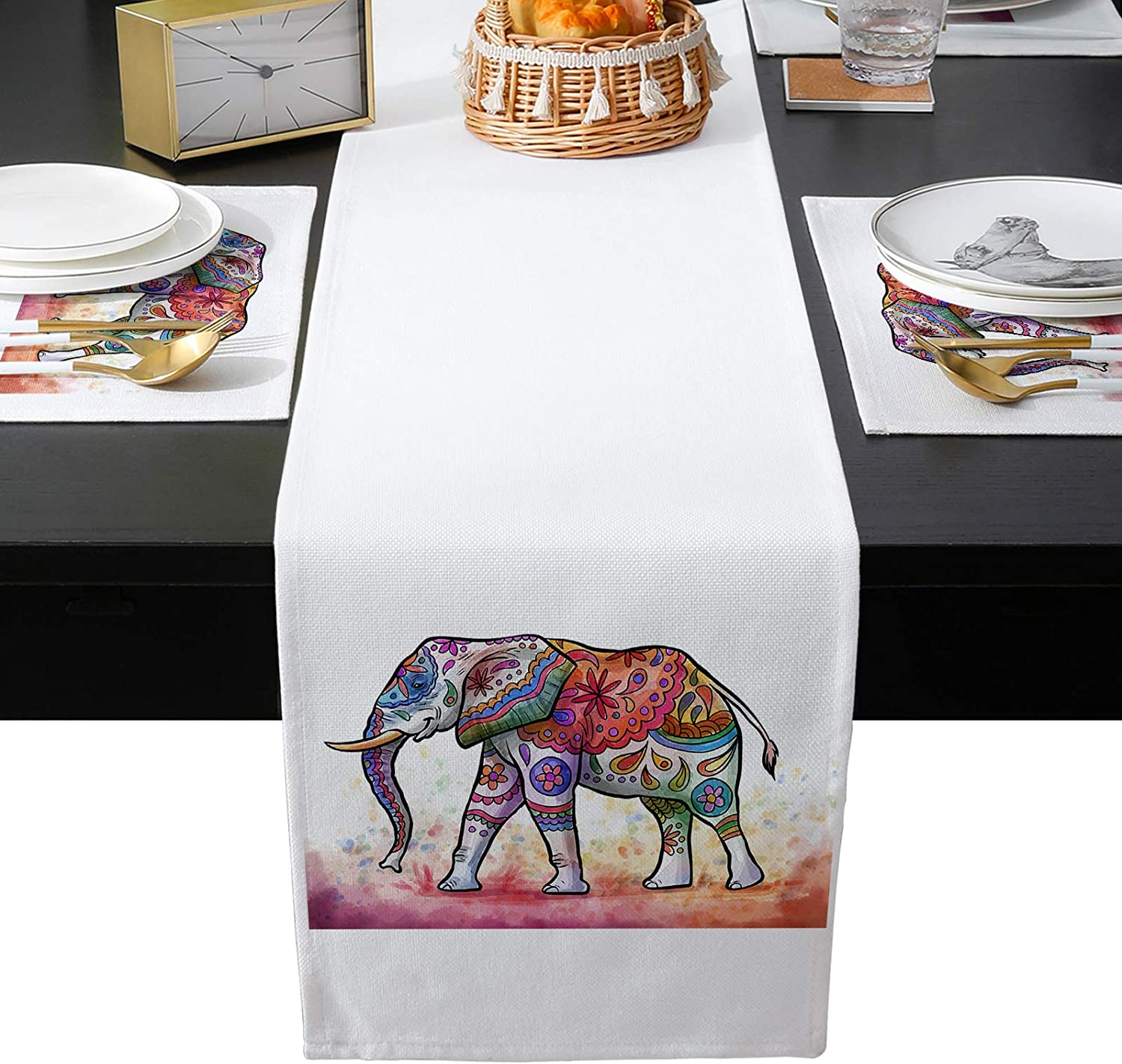 BABE MAPS Boho El Paso Mall Elephant Table New Shipping Free Shipping Runner Placemats Cot Set Washable