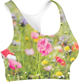 Rainbow Rules Wildflowers Sports Bra