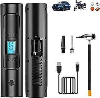HyAdierTech Elektrische bandenpomp, accucompressor, 150 psi elektrische luchtpomp, fietspomp, draagbare bandenpomp met dig...
