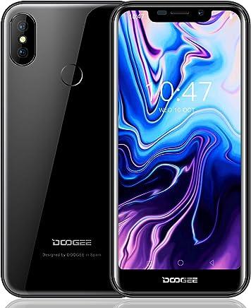 Moviles Libre, DOOGEE X70 Smartphone Libres, 3G Android 8.1 Telefonos - 5.5 Pulgadas HD IPS - 2GB RAM + 16GB ROM - Cámara Dual de 5MP + 8MP - MTK6580A Quad Core - 4000mAh - ID de Rostro - Negro