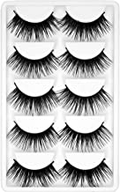 Natural Long 3D Mink Eyelash Fashion Cruelty Free Eyelashes Handmade Reusable Lashes Popular Makeup Fakes,C,0.10Mm,Style 5