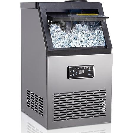 Machine à glaçons, 45 Glaçons Par 15Min, 70kg en 24 Hrs, 2 tailles de Glaçons, Machine a glacons professionnel, 11,5 KG de stockage de glace , Pour La Maison/Bureau/Restaurant/Bar/Café