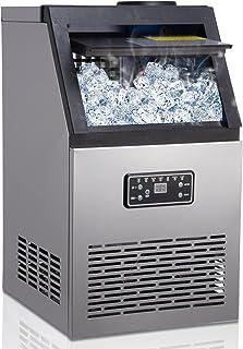 Machine à glaçons, 45 Glaçons Par 15Min, 70kg en 24 Hrs, 2 tailles de Glaçons, Machine a glacons professionnel, 11,5 KG de...