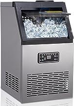 Machine à glaçons, 40 Glaçons Par 15Min, 60kg en 24 Hrs, 2 tailles de Glaçons, Machine a glacons professionnel, 11,5 KG de...