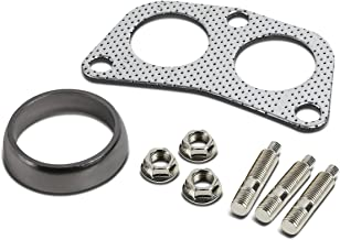 DNA Motoring GKT-A-2-DP-DNT-GPT-KIT Graphite Aluminum Gasket Plus Donut, Studs, Bolts Kit