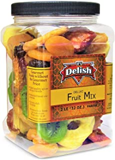 Dried Mixed Fruit with Prunes by It's Delish, 2 lbs (32 Oz) Jumbo Container | Snack Mix of Prunes, Apricots, Plums, Apple ...