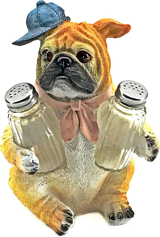 Bellaa 29257 Bulldog Salt Pepper Shaker Holder Set Puppy Dog Challenge the lowest price of Japan Cheap bargain Fig