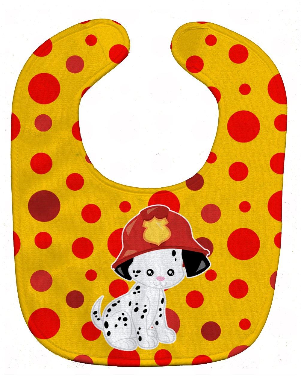 Caroline's Treasures BB6999BIB Fireman Dalmatian Puppy Baby Bib, 10 x 13