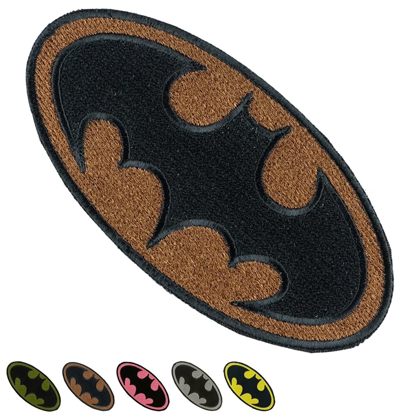 Iron Sew on Applique Patch : BATMAN Super Hero (Brown)