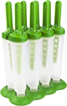 Tovolo, Drip-Guard Handle 4 Oz, Set of 4 Twin Ice Pop Molds, Popsicle Makers with Reusable Sticks, Mess-Free Frozen Treats...