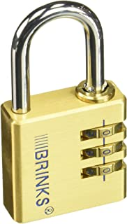 BRINKS 171-40051 40mm Solid Brass Resettable Combination Lock