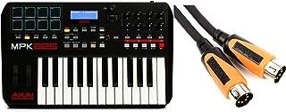 Roland RMIDI-B3 Black Series MIDI Cable - 3' + Akai Professional MPK225 25-key Keyboard Controller Value Bundle