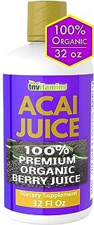 Acai Berry Organic Liquid Juice Blend 32 oz | Superfood/Super Fruit | Antioxidant, Omega 3, Immune Support | Great for Det...