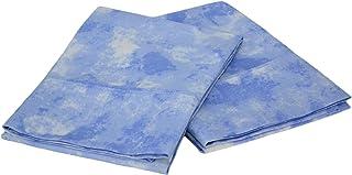 Elite Home Horizons Collection 300 Thread-Count 100-Percent Cotton Sateen King 2-Piece Pillow Case Set, Blue