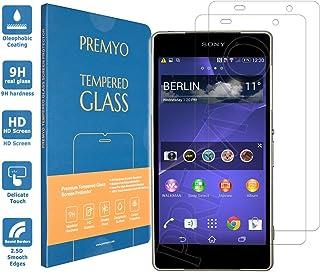 PREMYO 2 Piezas Cristal Templado para Sony Xperia Z2 Protector Pantalla para Xperia Z2 Dureza 9H Bordes 2,5D Vidrio Lámina Protección Compatible con Sony Z2 Sin Burbujas contra Arañazos