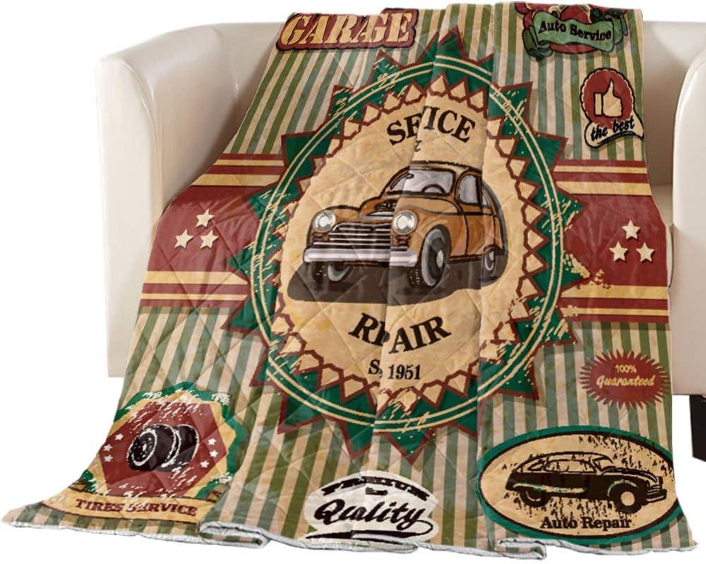 Vintage Max 54% OFF Oakland Mall Farm Truck Illustration Comf Down Reversible Alternative