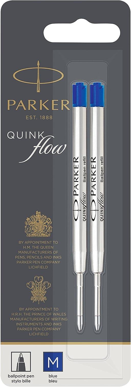 PARKER QUINKflow Ballpoint Super popular specialty store Pen Ink Refill Tip 2 P Blue Jacksonville Mall Medium