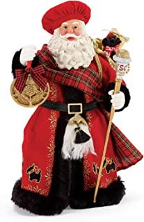Department 56 Possible Dreams Santa Sports and Leisure Scottish at Heart Figurine, 11 Inch, Multicolor