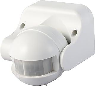 Garza Power - Detector de Movimiento Infrarrojo de Pared, Ángulo de Detección 180º, protección