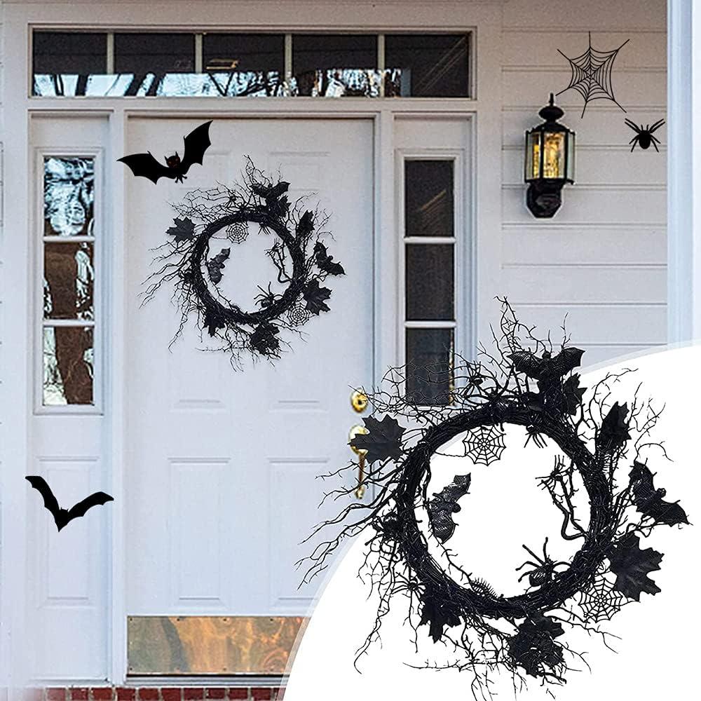 Ranking TOP7 Lincang Black Bat Wreath Door Halloween Spider Large discharge sale Creepy