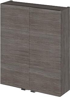 Hudson Reed OFF555 500 Wall Unit Storage Cabinets, Grey Avola, 500mm