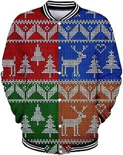 Sweatshirt Hoodie for Men Christmas Top Blouse 3D Print Party Coats Outwear