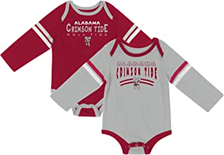 NCAA Long Sleeve Baby Bodysuit 2-Pack-Newborn and Infant Sizes