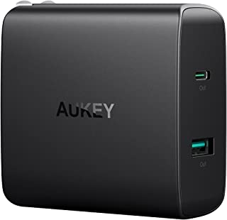 AUKEY USB充電器 ACアダプター 46W USB Type-C Power Delivery 3.0 + 5V/2.1A スマホ充電器 MacBook/Pro, iPhone X / 8 / Plus, Samsung Note8 など対応 PA-Y10【PSE認証済み】