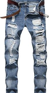 Herenmode borduurwerk print hip hop losse jeans, zomer dunne casual slanke voeten Koreaanse stijl trendy lange broek