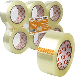 "[6 Pack] 110 Yard x 1.9"" Inches, 2.7mil Thick, Clear Packing Tape Rolls Heavy Duty Packaging Adhesive Sealing for Shipping Moving Storage"