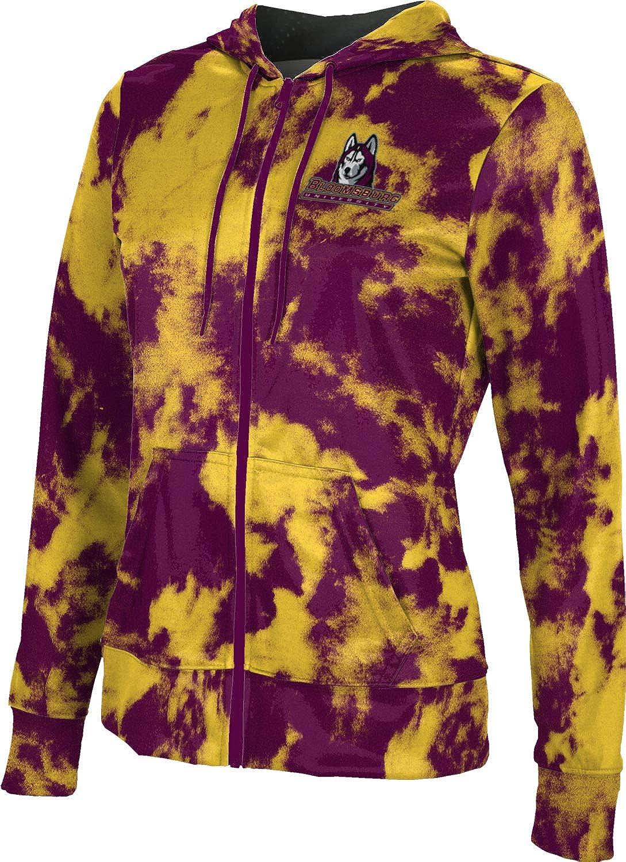 ProSphere Bloomsburg University Girls' Zipper Hoodie, School Spirit Sweatshirt (Grunge)