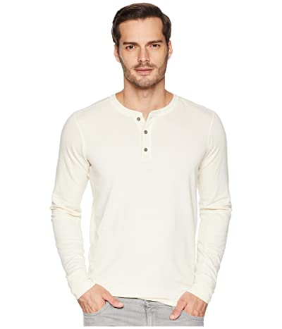 The North Face Long Sleeve TNF Terry Henley (Vintage White Heather) Men