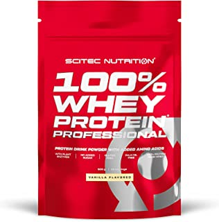 Scitec Nutrition 100% Whey Protein Professional with extra amino acids and digestive enzymes, gluten free, 500 g, Vanilla