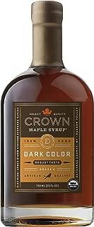 Crown Maple Organic Grade A Maple Syrup, Dark, 25.4 Ounce