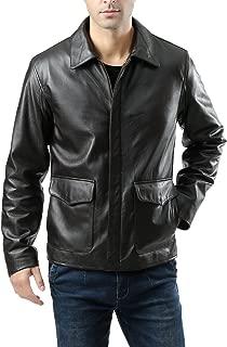 Landing Leathers Men's Voyager Indy-Style Goatskin Leather Jacket (Regular & Tall Sizes)