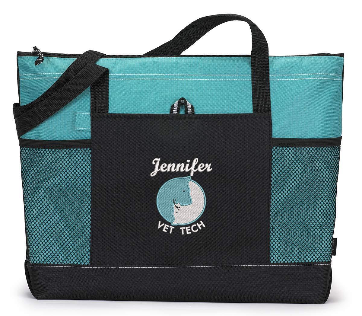 Bargain Veterinarian Vet Tech Tulsa Mall Personalized Embroidered Tote Bag