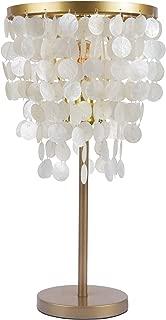 Table Lamp, Morden Fort Capiz Desk lamp One Light for Living Room/Bed Room/Dining Room(Nautural White)