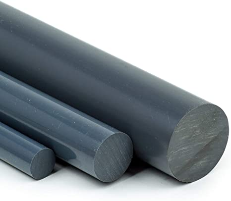 90cm PVC Rundstab grau /Ø 12mm PVC-U Kunststoffstab auf Zuschnitt L: 900mm