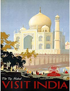 Wee Blue Coo Travel Canadian Pacific Taj Mahal India Canada Vintage Advertising Unframed Wall Art Print Poster Home Decor Premium