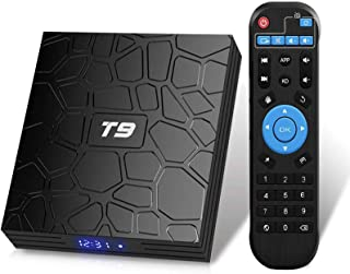 T9 Android 9.0 TV Box 4GB DDR3 RAM 32GB ROM RK3318 Bluetooth 4.0 Quad-Core Cortex-A53 64 Bits Support Dual WiFi 2.4G/5G 4K...