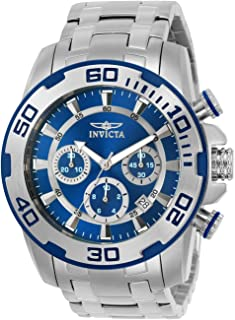 Invicta Men's Pro Diver Quartz Watch with Stainless-Steel Strap, Silver, 26 (Model: 22319