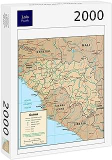 Lais Jigsaw Physical Map Guinea 2000 Pieces