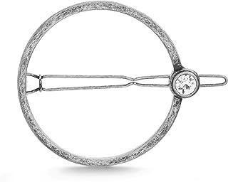 Steve Madden Women's Rhinestone Bezel Round Circle Hair Clip