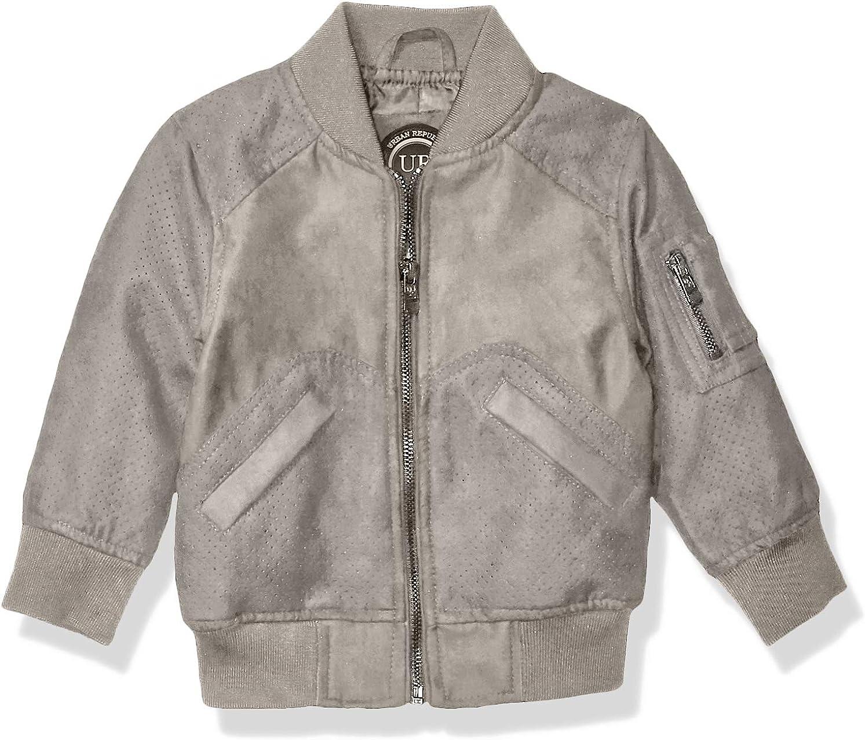 Urban Republic Little Boys Ultra Suede Jacket Navy 5//6