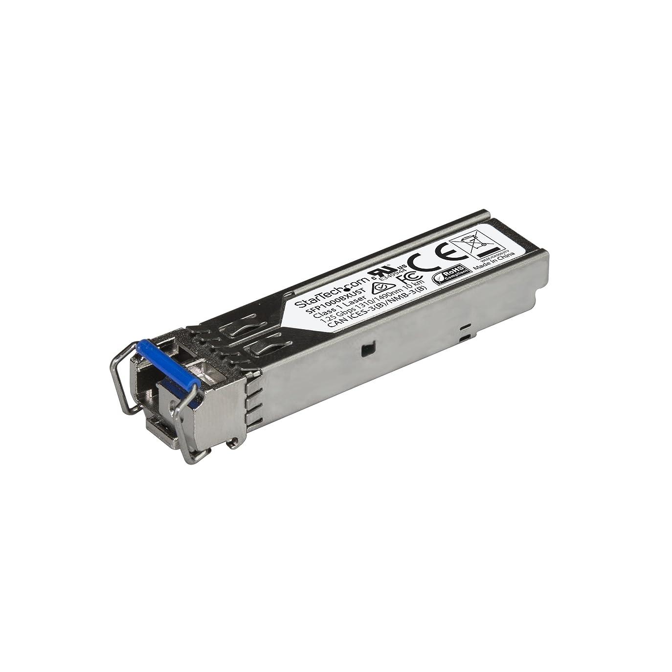 メロンゴミ箱を空にする回転させるStarTech.com SFPモジュール 1000BASE-BX MSA準拠 アップストリーム LCコネクタ 光ファイバトランシーバ ライフタイム保証 1Gbps SFP1000BXUST