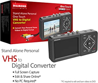 Diamond Multimedia  VC500ST One Touch Standalone Digital Converter: Capture/Record Video from VHS, HI8, Camcorder, Set Top Box or Any Source with Composite/S-Video RCA AV outputs