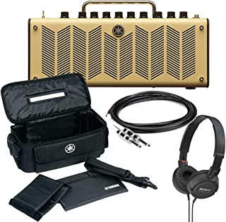 Yamaha THR10 10-Watt Modeling Combo Stereo Amp with Gig Bag, On-Ear Stereo Headphones, and 10-Foot Guitar Cable