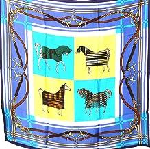 100% Heavy Luxurious Charmeuse Silk Scarf Shawl Wrap Equestrian A84